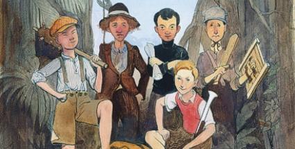 Z blogu Jiřího Gruse, ilustrace k románu Bylo nás pět