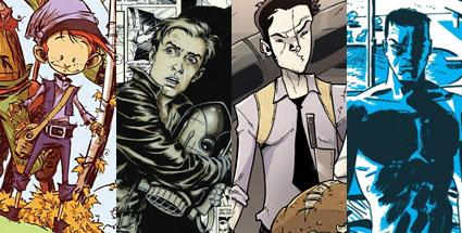 Zleva: The Marvelous Land of Oz, Dave Stevens' The Rocketeer Artist's Edition, Chew, Richard Stark's Parker: The Outfit