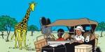 V Africe si Tintin obstaral kožich zžirafí kůže