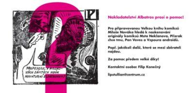 Hledají se originály Miloše Nováka